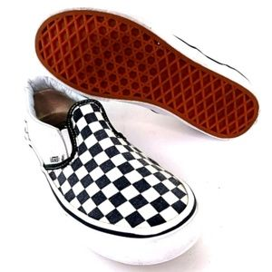 Vans Slip-On Checkerboard Black & White Youth 3